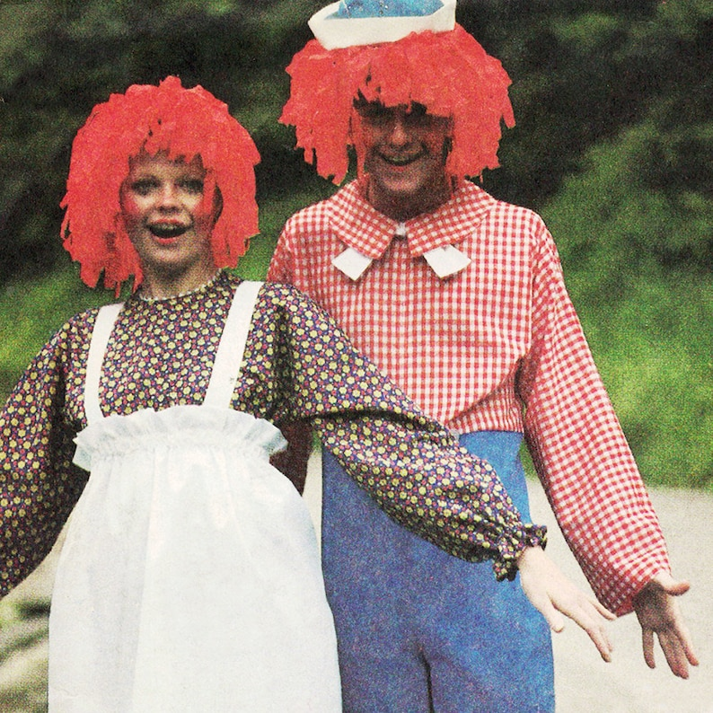 Vintage Raggedy Ann and Andy Couples' Halloween Costume image 0