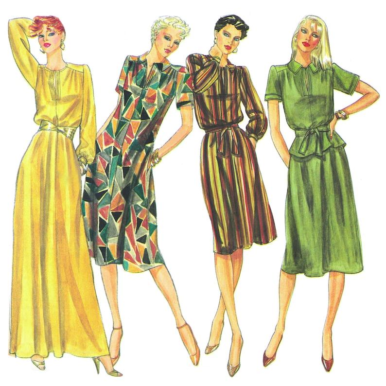 Sexy Slinky Dresses Vintage 1970s Vogue's Basic Design image 0