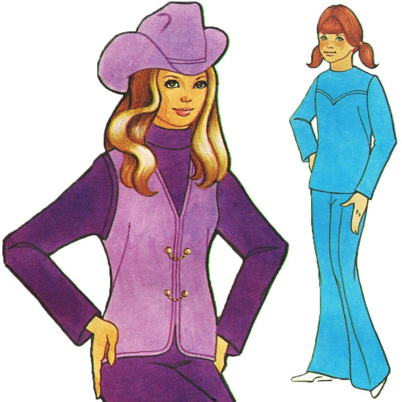 Country Western Outfit Vintage c. 1970s Authentic Patterns image 0