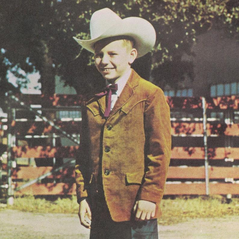 Boys' Cowboy Jacket Vintage c. 1970s Authentic Patterns image 0