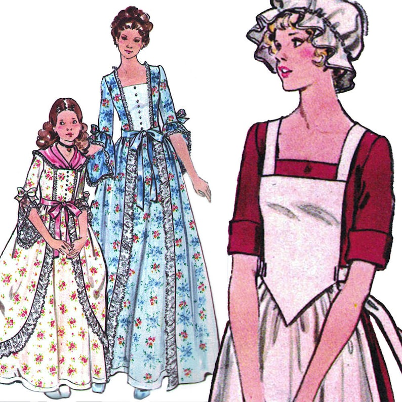Patriotic Formal Dress Vintage c. 1976 Butterick Sewing image 0