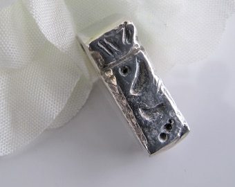 Silver Tiki Pendant, 925 Sterling Unisex Jewelry - Fabulous Gift