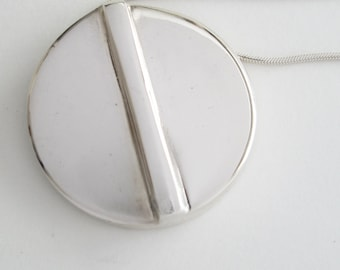 Solid Silver Pendant WITH Chain - Hand Cast Sterling