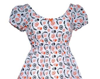 Babydoll Style Nightdress in Halloween Print - Kawaii Nightdress - Ready to Ship in Size S