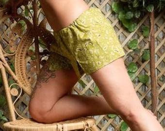 Cowgirl Shorts, Retro Lingerie, Pin Up Style, Vintage Beachwear, Bandana Print Shorts, Rockabilly Shorts, Made To Order in Sizes XS - XXL