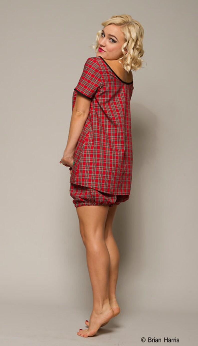 e16bdd2e6d Tartan Nightdress Babydoll Nightdress Plaid Pyjamas Vintage