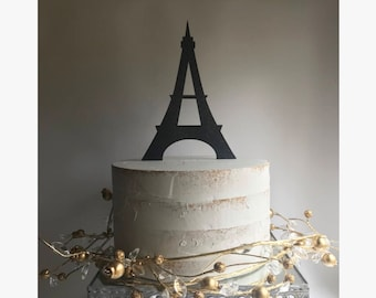 Eiffel tower cake topper | Etsy