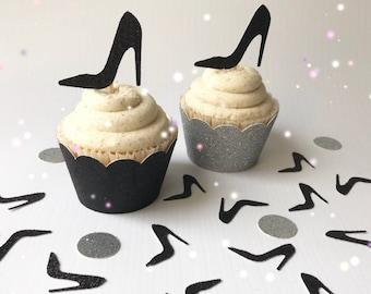 High Heel Cupcake Toppers| Stiletto Cupcake Toppers| Shoe Cupcake Toppers| Shoe Picks| Stiletto Picks| High Heel Picks| Bachelorette Picks