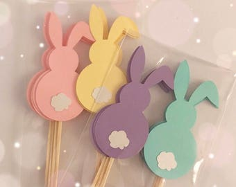 Easter Bunny Cupcake Topper| Bunny Turning One Toppers| Bunny Turning One Decor| Easter Decor| Easter Parties|