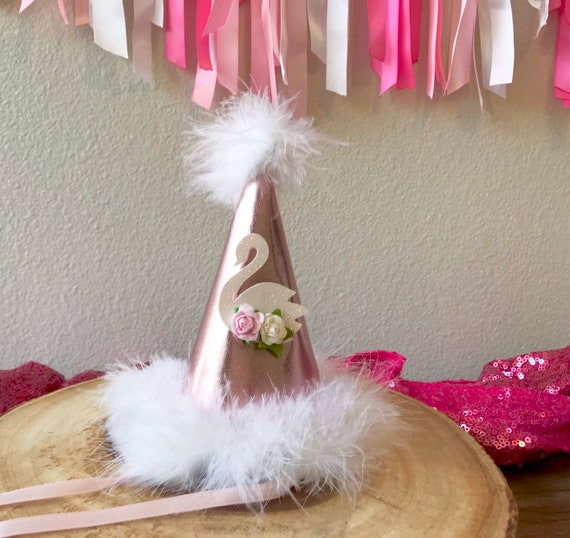 Babys First Birthday Hat Personalized Princess Hat Swan Princess Birthday Hat Keepsake Party Hat Girls Birthday Hat Princess Hat