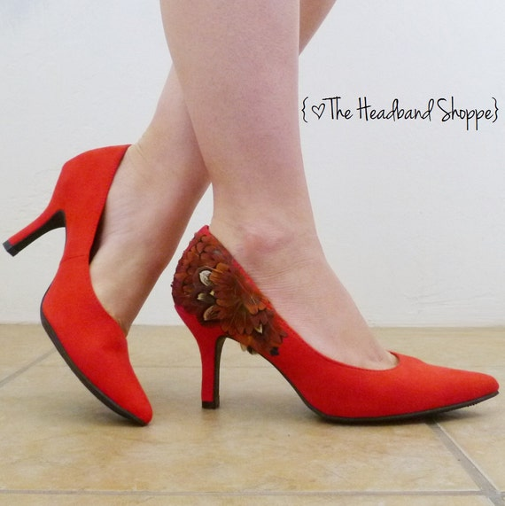 c82534f0969dc Items similar to Made to Order - BRONZE HEART Heels - Coral Orange ...