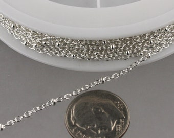 Tiny Satellite Chain Cable BALL Chain B2014S 2.0x1.4mm SOLDERED Special Sale 100 feet of Gunmetal Chain Bulk Chain