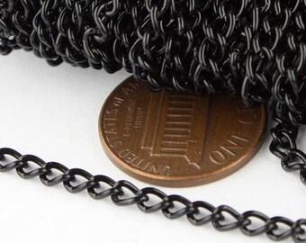 3.0mm 0.8mm Unsoldered Link 12 ft of Antique Copper Finished Curb Chain 30CURB Antique Copper Chain bulk chain