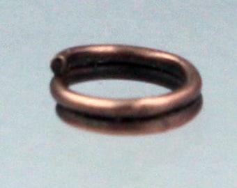 5mm 200 pcs of Antique Copper Finished Split Rings