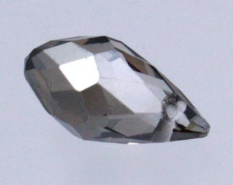 20 pcs of Silver Shadow Color Crystal Quartz Faceted Briolette Teardrop - 6x11mm