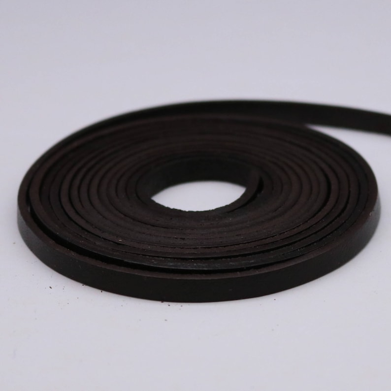 316 Inch  5mm Flat Strip -Ship USA 316 inch 5mm x 84 Dark Brown Genuine Leather Strap Premium Quality Real Leather 7 Feet Long