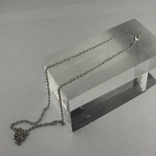 100 100 100 pièces d'acier inoxydable de la chaîne 18 pouces, prêt à porter chirurgical collier de chaîne de câble en acier inoxydable avec fermoir mousqueton - 18 pouces - 3x2.2mm 38888a