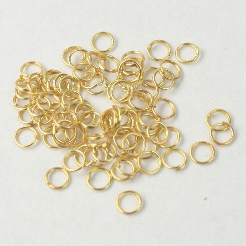 5mm 200  Gold Plated Split Rings