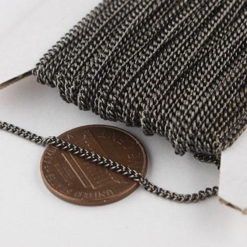 300 ft Gunmetal Solder Curb Chain 1.6mm SOLDERED Link