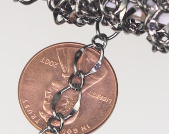 10 feet Gunmetal Hammered Curb Chain Bulk Chain - 5x8mm SOLDERED Link - Gunmetal Necklace Wholesale Big Hammered Chain Soldered  Curb Chain