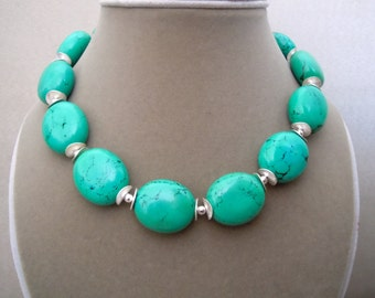 Eden -- Genuine Turquoise Statement necklace
