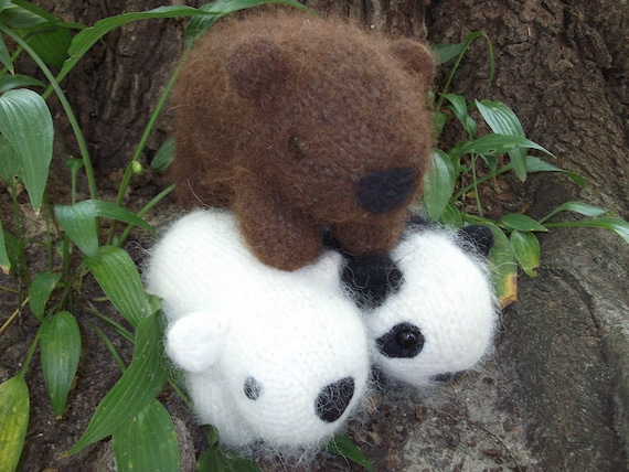 Bear Stuffed Animal Panda Stuffed Animal Polar Bear Stuffed Etsy