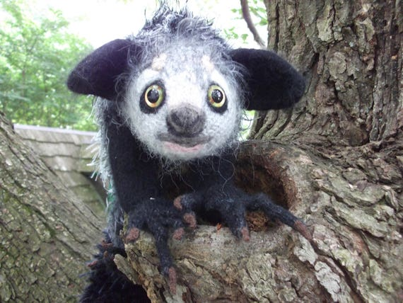 Aye Aye Stuffed Animal Artist Plush Made To Order Etsy
