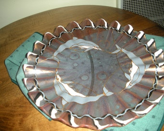 Glass Dolphin Plate