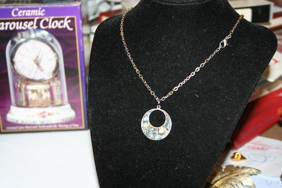 Sterling Silver Half Moon Pendant