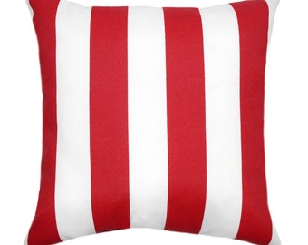Red Outdoor Pillow Etsy