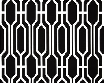 Black STUFFED Pillow - Black and White Geometric Decorative Pillow - Harland Onyx Black Modern Throw Pillow - Black Accent Pillow -Free Ship