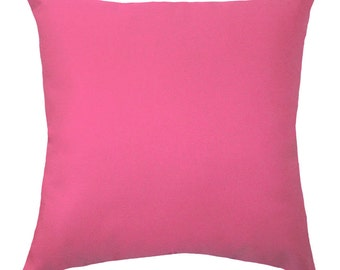 Hot Pink Pillow, Solid Pink Pillow, Solid Candy Pink Double Sided Decorative Throw Pillow, Pink Accent Pillow - Free Shipping