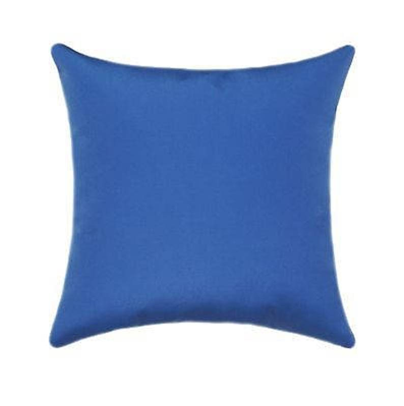 Outdoor Pillows, Sunbrella Throw Pillows, Capri Blue Outdoor Cushion,  Sunbrella Canvas Capri Blue Outdoor Pillow   Free Ship