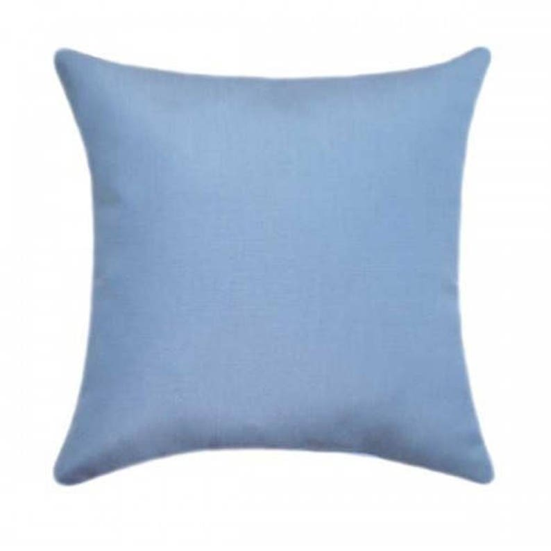 Sunbrella Throw Pillow, Blue Outdoor Pillow, Sunbrella Canvas Air Blue  Outdoor Pillow, Solid Blue Deck Pillow, Air Blue Cushion, 5410 0000