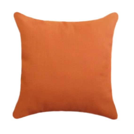 Orange Outdoor Throw Pillow Sundeck Orange Square Or Lumbar Etsy