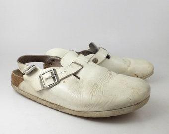 1b6add3d8c4e Birkenstock Sandals Vintage 1990s Clogs Tokyo White Clogs size 41