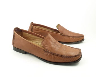 52a8dcaf351 Cole Haan Loafers Brown Vintage 1990s Resort Leather Shoes Women s size 8 B  Made in Italy