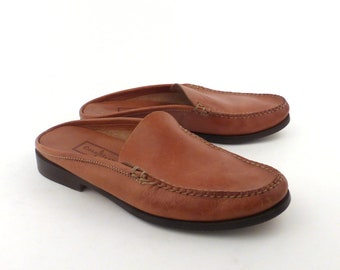 7d0e4488ae6 Cole Haan Loafers Brown Vintage 1990s Country Leather Shoes Women s size 8 B