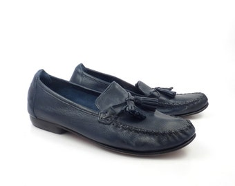 262860c6b65 Cole Haan Loafers Blue Vintage 1990s Leather Shoes Women s size 7 B
