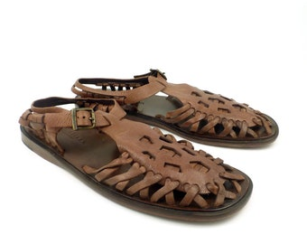 6ac8dfe2f2f Cole Haan Sandals Brown Vintage 1980s Leather Shoes Women s size 8 B