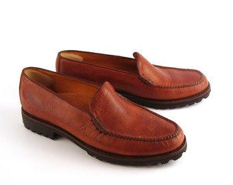 7e82abe3cad Cole Haan Loafers Brown Vintage 1990s Country Leather Shoes Women s size 10  AA