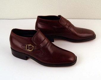 VTG FREEMAN Free-Flex Slip On Brown Leather Dress Shoes Loafers Men/'s size 10.5