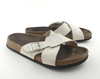 ae1fbb7ab066 Birkenstock Sandals Birkis White size 37 White Faux Leather Vegan
