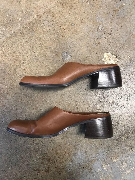 Brown Mules Clogs Vintage 1990s Winklepicker Unli… - image 6