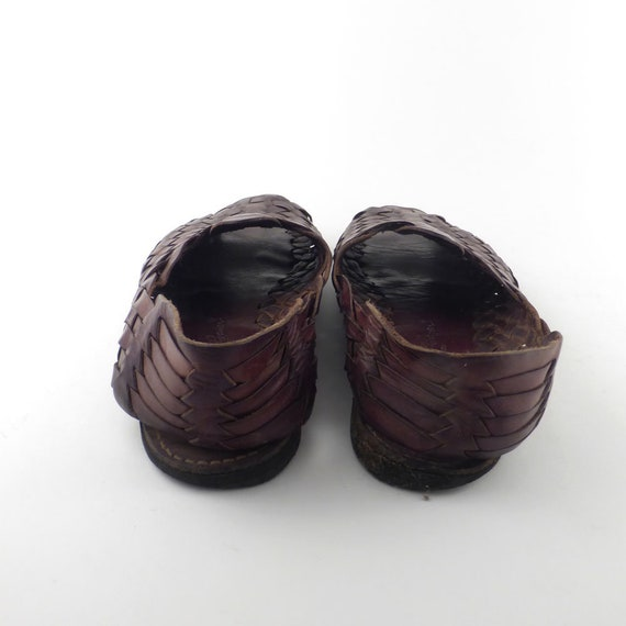 ad0016e316f64 Huaraches Sandals Vintage 1980s Men's Woven Leather Eddie Bauer Size ...