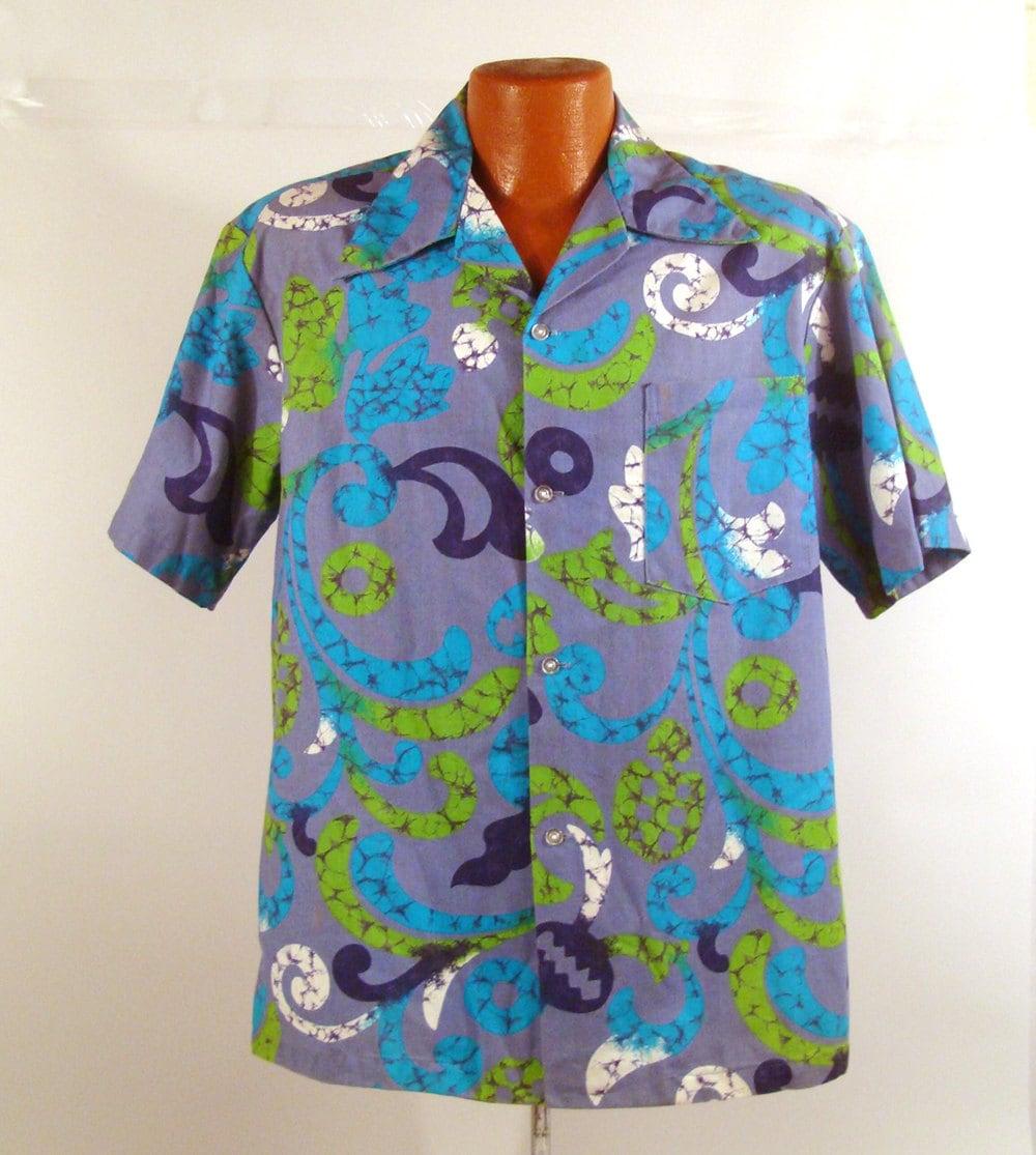 1960s – 70s Men's Ties | Skinny Ties, Slim Ties Hawaiian Shirt Vintage 1960S Hawaii Psychedelic Print Mens $34.99 AT vintagedancer.com