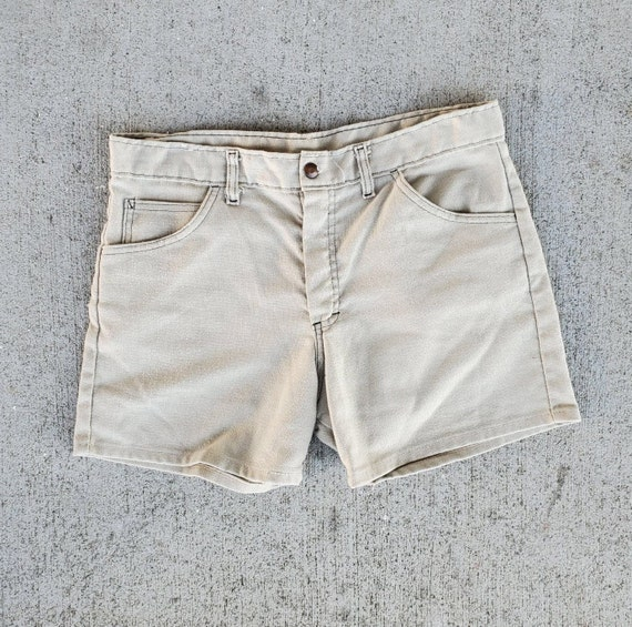 Seventies Shorts Vintage 1970s Woven Cotton Poly 3
