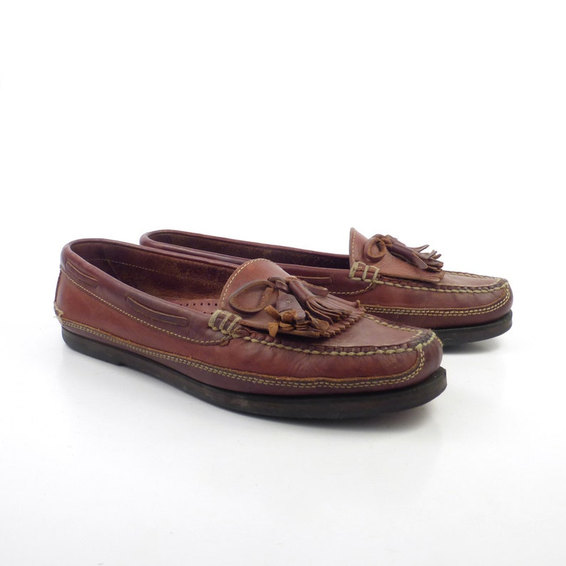 425db40fd77 Cole Haan Loafers Brown Vintage 1980s Leather Shoes men s