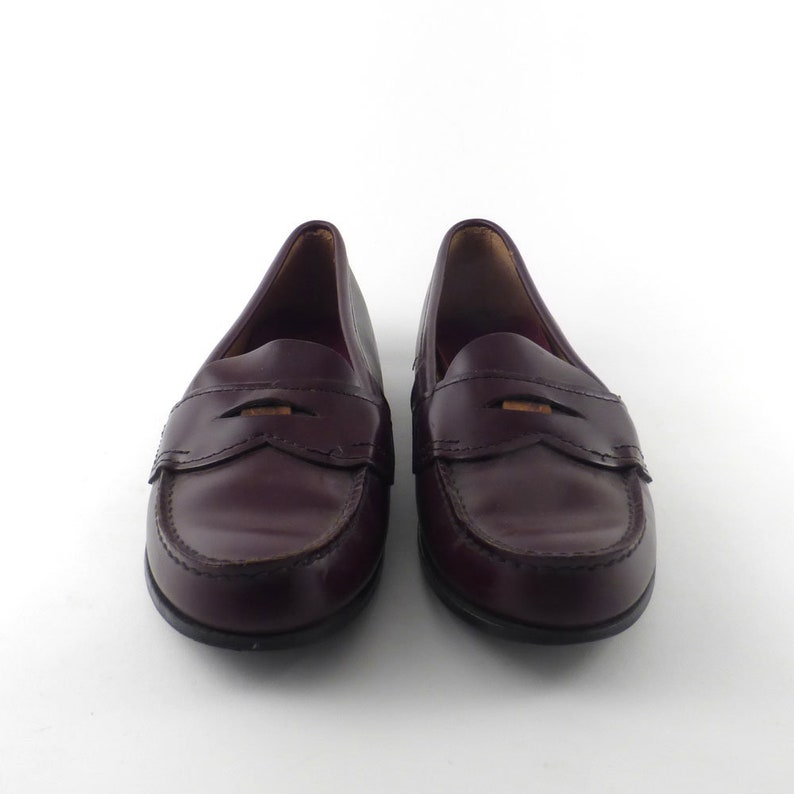 131a14b5ac6 Eastland Penny Loafers Vintage 1980s Burgundy Shoes Dress