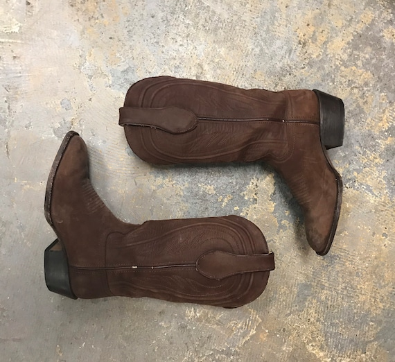 Cowboy Leather Boots Vintage 1990s Proudly Handmad
